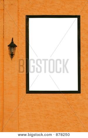Orange Wall White Space
