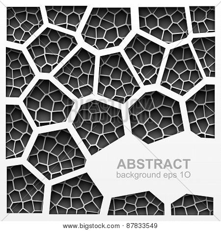 Abstract grayscale geometric pattern