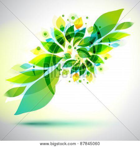 Summer Decorative Geometric Flower Sticker
