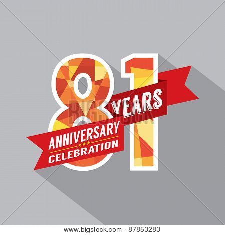 81St Years Anniversary Celebration Design.