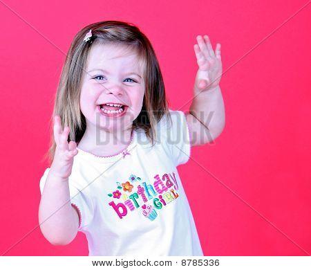 Pretty toddler girl dancing
