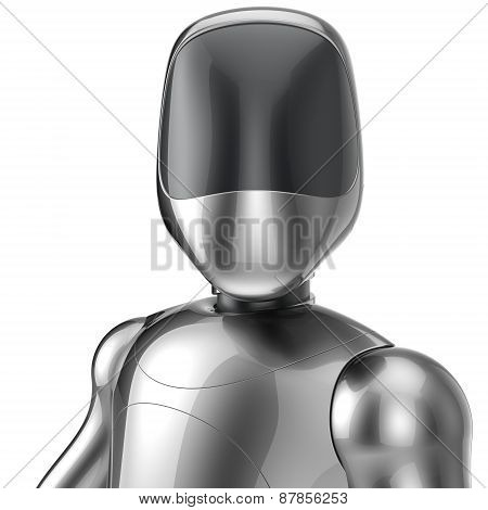 Bot Cyborg Robot Android Futuristic Artificial Character Concept