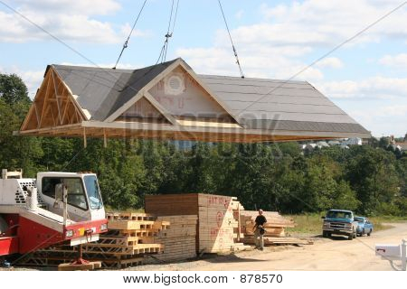 Lifting Roof On Home - 3