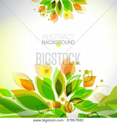 Abstract Fresh Colors Decorative Summer Frame