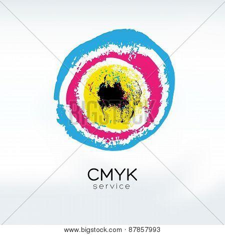 Cmyk Target Logo Concept