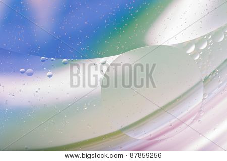 Abstraction Of Oil Droplets On Water Surface
