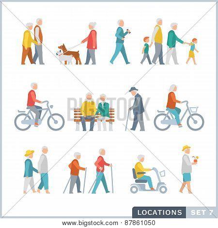 Older People On The Street. Neighbors.