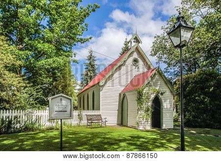 Small chapel in Arrowtown Otago South Island New Zealand