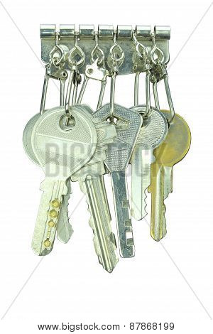 Key Holder Wallet Isolated On White Background
