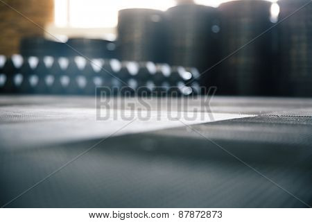 Blurred image of a fitness gym equipment