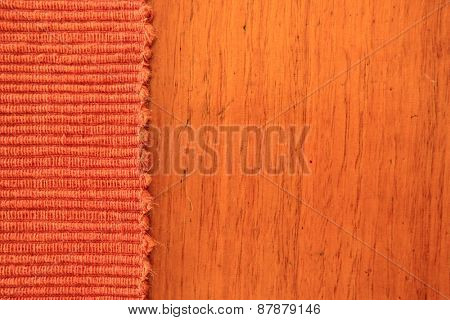 Abstract Rust Colored Fabric and Timber Background 2