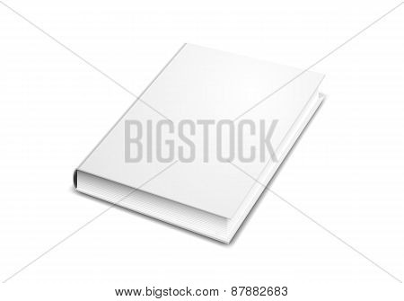 Book cover mock-up isolated on white
