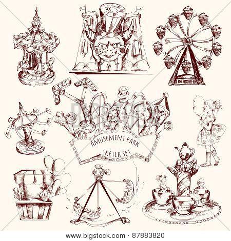Amusement Park Sketch