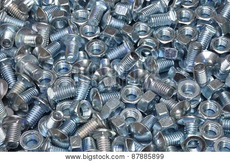 Nuts and big bolts as industrial background