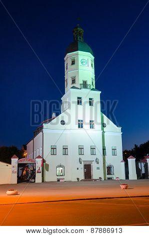 Nesvizh. Town Hall At Night