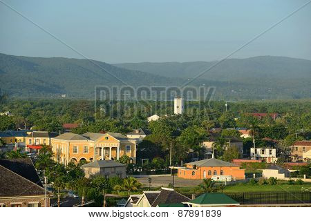 Falmouth CourtHouse and Church, Jamaica