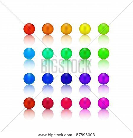 Colorful Pearls Special Set isolated on white