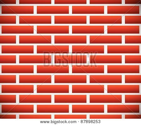 Seamless Pattern Of Dark Brickwork, Brick Wall. Repeatable. Construction, Revetment, Firewall Patter