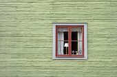 Retro Façade in Scandinavian retro style from outdoor Swedish museum village poster