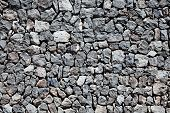 Grey lava stone boundary wall pattern background poster