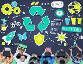 Recycle Reduce Reuse Eco Friendly Natural Saving Go Green Concept poster