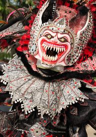 Monster disguise In Carnival Of Bayaguana/Dominican Republic