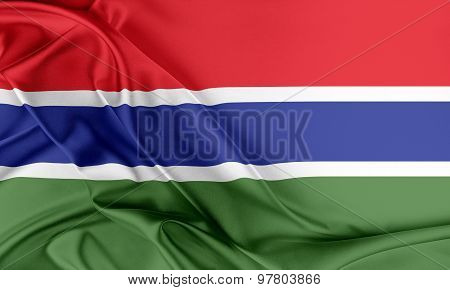 Gambia Flag.