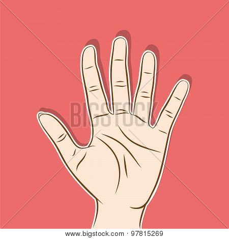 five finger count design