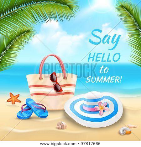Vacation Background Illustration
