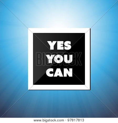 Enter to Win - Inspirational Quote, Slogan, Saying - Success Concept Illustration with Label and Natural Background, Blue Sky and Sunshine  poster