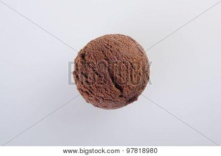 ice cream scoop or chocolate ice cream.