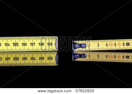 Yardstick And Meter Roll