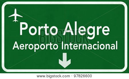 Porto Alegre Brazil International Airport Highway Sign