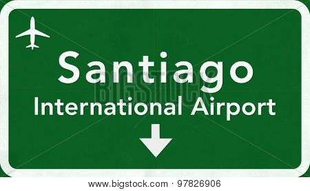 santiago Chile International Airport Highway Sign