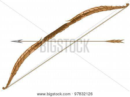 Elven Longbow And Arrow