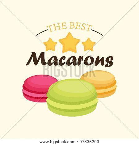 The best macarons. Vector illustration.