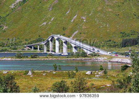 Cantilever Bridge In Norway