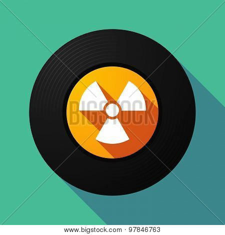 Vinyl Record With A Radio Activity Sign