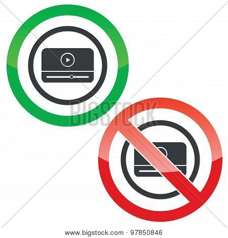 Mediaplayer permission signs