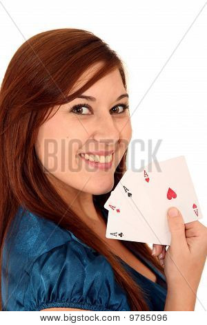 Beauty Holding All Aces