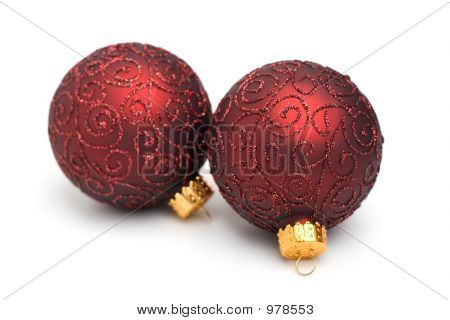 A Pair Of Christmas Tree Ornaments