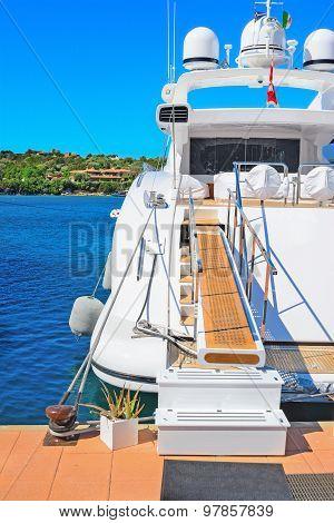 Luxury Yacht In Porto Cervo Dock