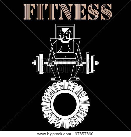 Vector Sport And Fitness Illustration-  Design Poster Or T-shirt Print -