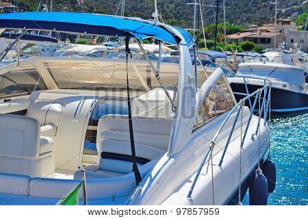 Yachts In Porto Cervo Harbor