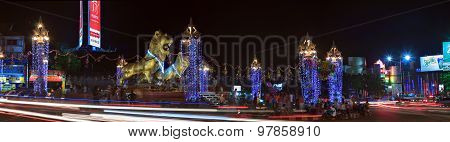 Celebration Of Khmer New Year In Sihanoukville At Golden Lions Square