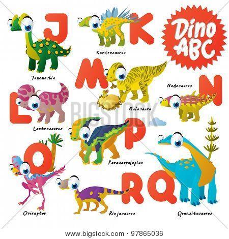 Dinosaur ABC, J to R