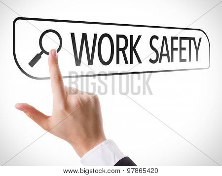 Work Safety written in search bar on virtual screen