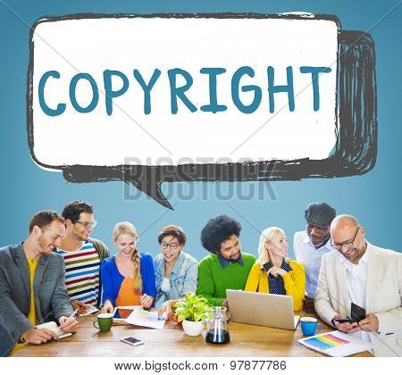 Copyright Trademark Identity Owner Legal Concept poster
