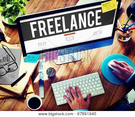 Freelance Part time Outsources Job Employment Concept