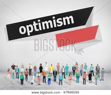 Optimism Attitude Hopeful Positive Thinking Concept poster